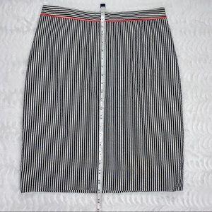 J. Crew Factory Skirts - J. Crew The Pencil Skirt in Seersucker Size 4 NWT